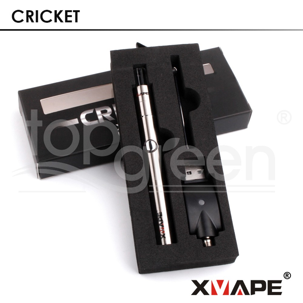 XVAPE Cricket slim wax pen with single quartz rod and magnetic mouthpiece 510 threading vaporizer