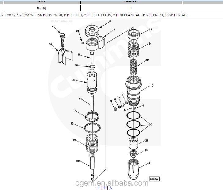 Original Terex3304 Truck Parts Cummins M11 Fuel Injector 4914458 - Buy  Cummins Injector,Cummins M11 Fuel Injector,Cummins Injector 4914458 Product  on