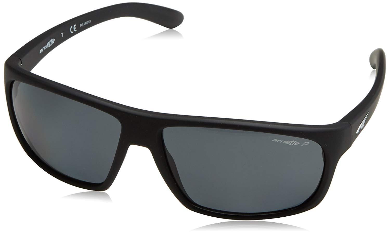 ffc6a050a2 Get Quotations · Arnette Sunglasses 4225 Burnout 447 81 Fuzzy Black Grey  Polarized