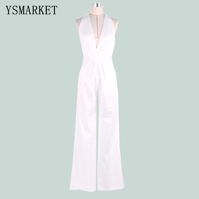 004392665375 2019 White Romper Summer Sexy Women Jumpsuit Sleeveless Trousers ...