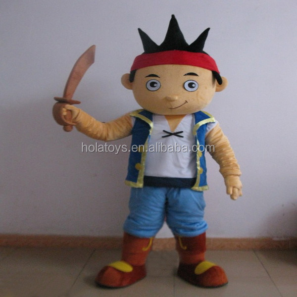 Hola chindren movie pirate mascot costume adult/jake and the neverland pirates