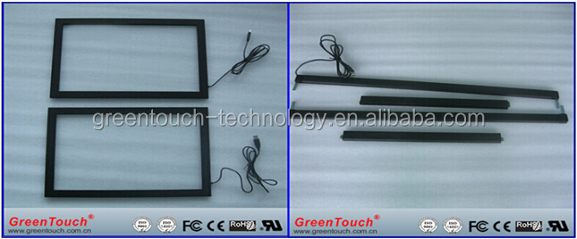 17 inch USB Infrared multi touch screen,IR touch panel overlay kit,ir touch screen frame