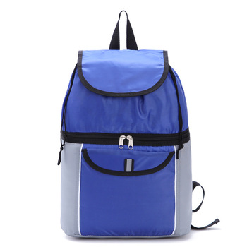 d06b71d0a818 Promotional Black Plain Backpack With Cooler Compartment