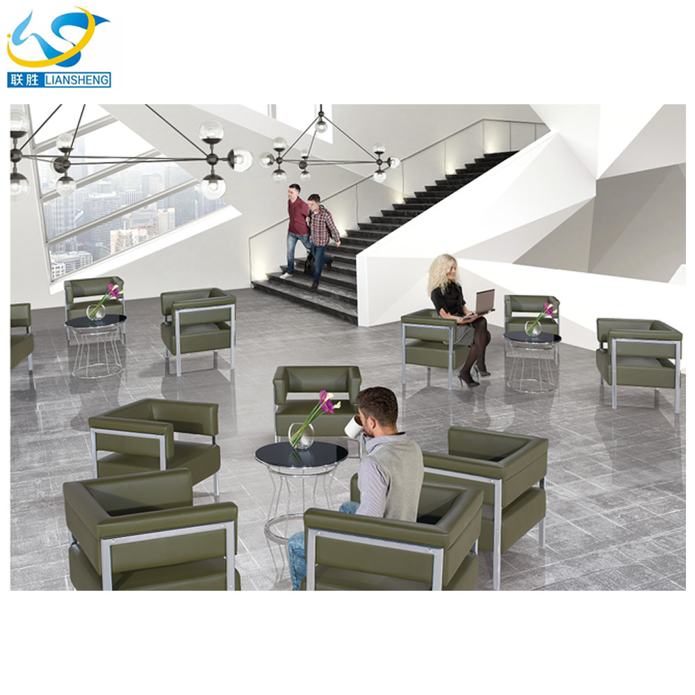 PU Sectional Sofa Luxury Furniture Office fashion One Seat Lounge