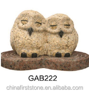 Stone Craft for Landscaping decoration Granite Owl Sculpture GAB222