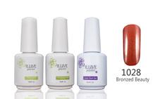 3 packs iLuve Professional Broned Bling Nail Gel Polish UV LED Lamps Gel 15ml Base Top