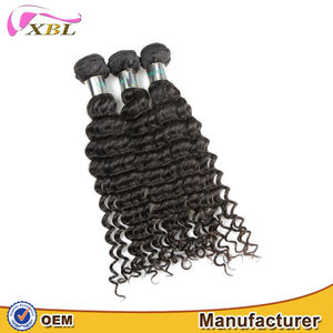 Good luster and smooth hair no lice no chemical good reviews wholesale price Deep wave human hair