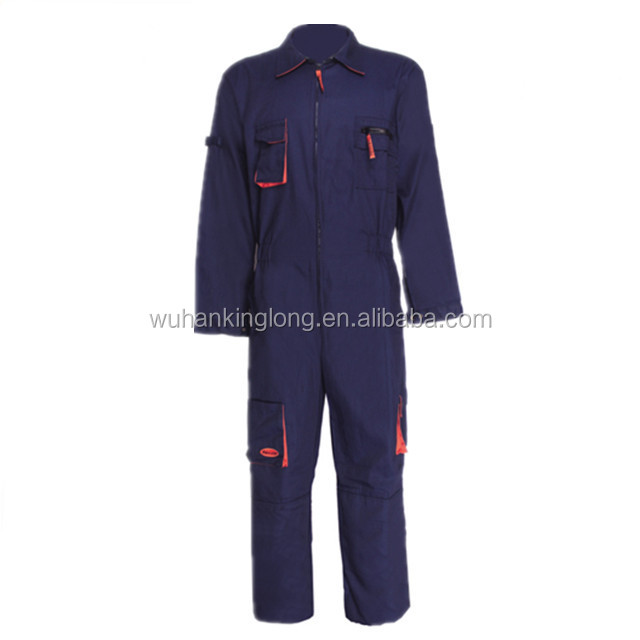 100%cotton twill mens royal blue work bolier suit