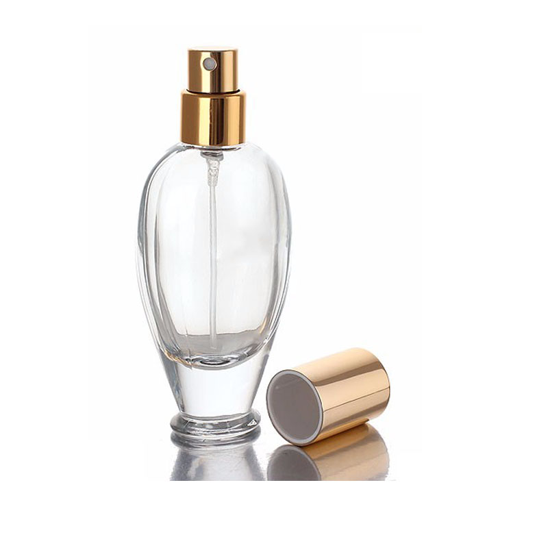 Custom made clear perfume glass bottle 100ml with perfect design