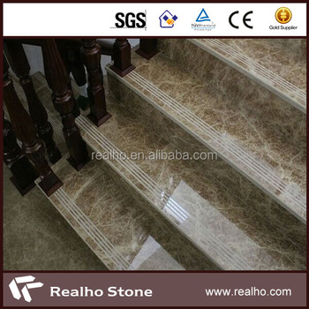 Natural Stone Non Slip Classical Marble Stair Treads