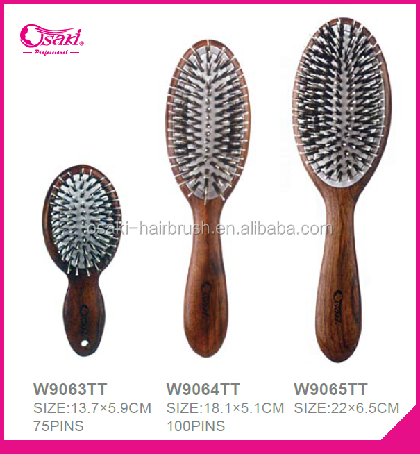 2016 private label professional wooden hair brush with boar bristle used in salon
