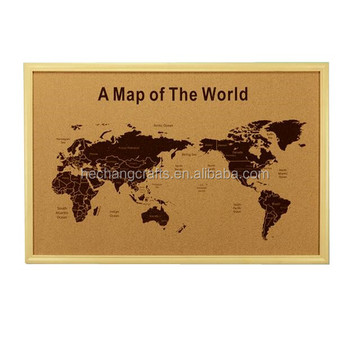 Cork world map black printing with wooden frame buy cork world map cork world map black printing with wooden frame gumiabroncs Image collections