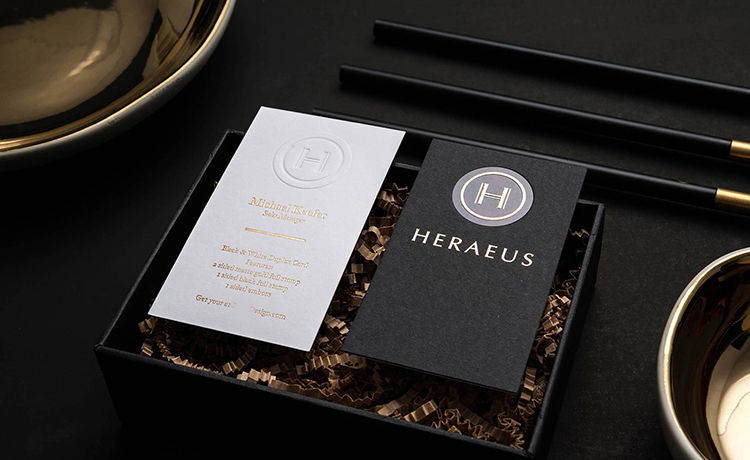 Custom High End Full Color Edge /black size Printing Thick Business Cards