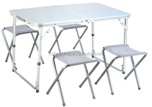 Folding Table Portable Indoor Outdoor Picnic Party Dining Camp Tables with 4 chairs from
