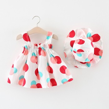 Wholesale Summer Children Boutique Baby Clothes Dresses For Kids Girls Dress