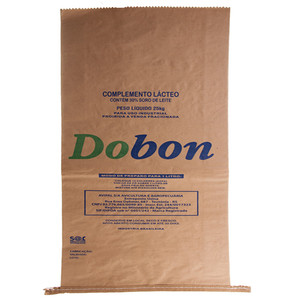 HDPE / LDPE Laminated Custom Printed Bulk Paper Bags for food chemical industry