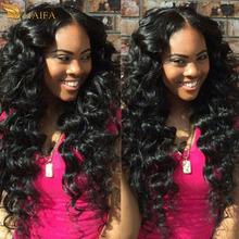 Xuchang haifa Hair company raw indian virgin human hair loose wave 3 bundles with closure wet