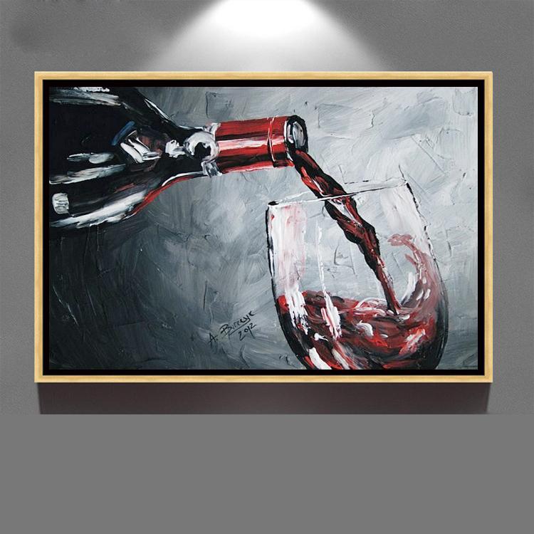 Toile Nouveau Design Verre Vin Rouge Dîner Salle Peinture À L'huile Buy Peinture Sur Verre,Peinture À L'huile Sur Verre À Vin,Dessins De Peinture