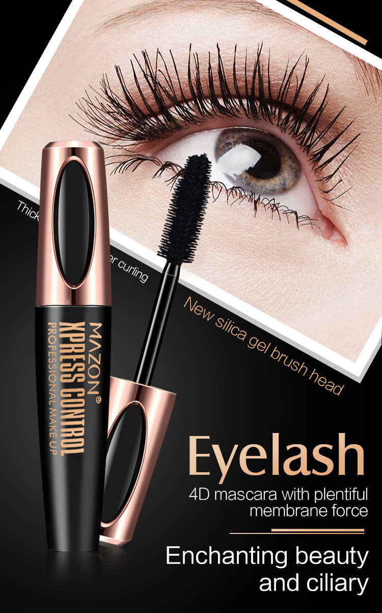 Best Selling Products New Makeup Eye lash Black Feather waterproof 4D Silk Fiber EyeLash Extension Mascara