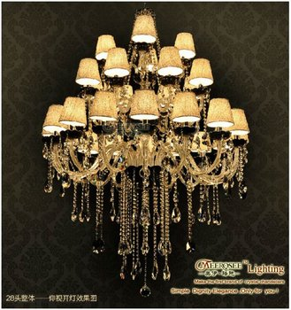 Art Deco Hanging Candle Light Crystal Pendant Lamp With 28 Arms Mds29 16 8