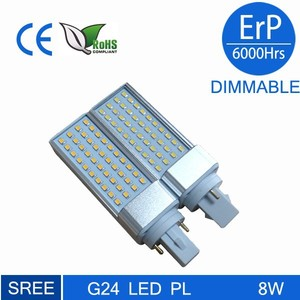 new products 2016 90-260V 6W 32SMD 2835 Aluminum High power 2 Pin PL G24 led G23 GX24 GX23Base LED Lamp