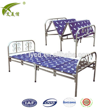 Simple Design Folding Livingroom Bedroom Single Bed Metal Foldable Frame Steel