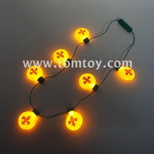 Tomtoy Light Up Bulb LED Flower-de-luce Necklace