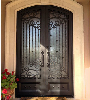 Elegant Design Wrought Iron Entrance Doors