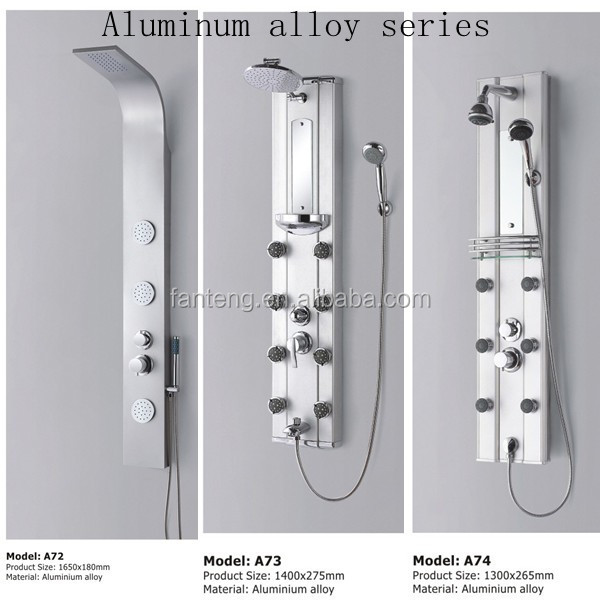 best shower panel tap shower faucet tempered glass shower tower panel - Shower Tower