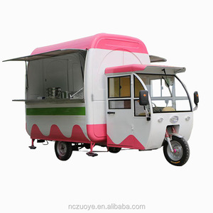 Three wheel ice cream bicycle burger carts mini truck for sale