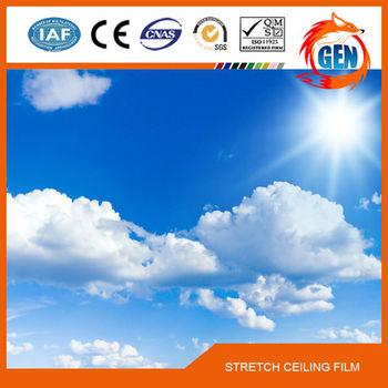 15 jaar kwaliteitsgarantie breedte bedrukte stof pvc plafond film voor ziekenhuis - Koffiebar decoratie ...