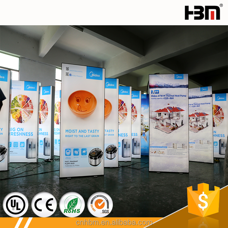 China advertising equipment frameless fabric aluminum profile light box led light signboard