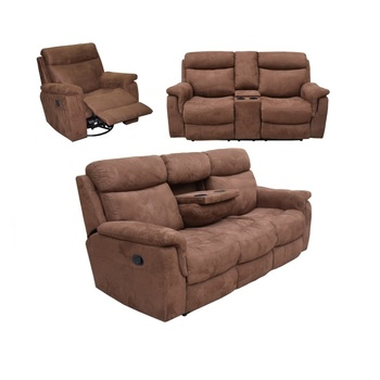 Fabric Home Theater Recliner Sofa 3 Seat Covers