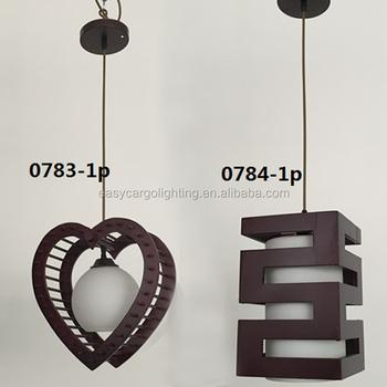 Top Ing Square Wood Hanging Pendant Lamp Decorative Droplight 0783 1p