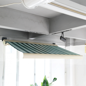 New Style Electric Metal Frame Retractable Garden Awnings With Wind Sensor