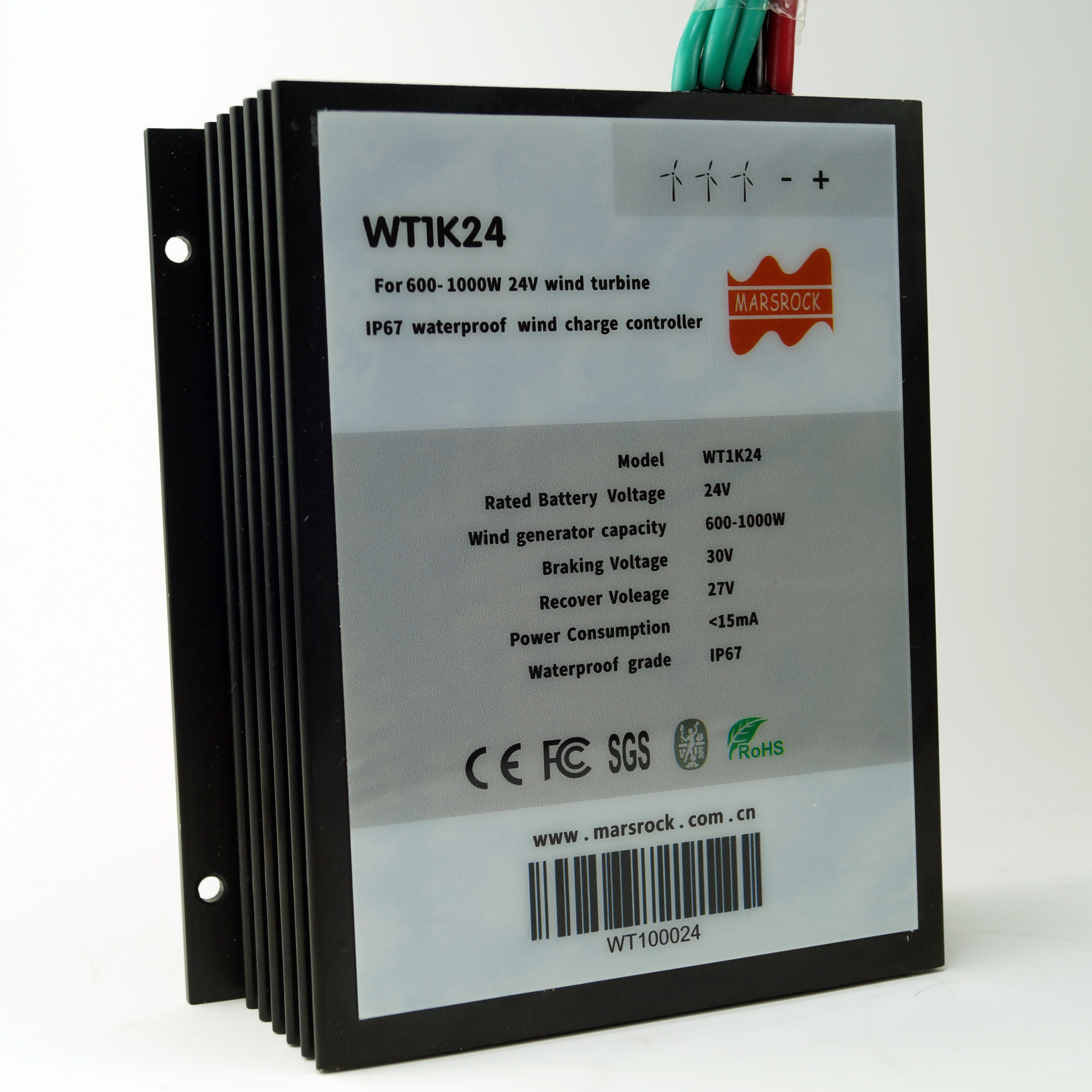 Au 24V 600W Éolienne Générateur Contrôleur de Charge Régulateur Imperméable IP67