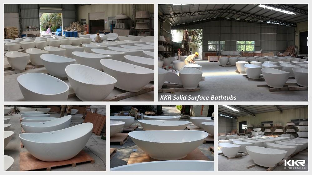 Vasca Da Bagno Bianco Opaco : Kkr bianco opaco freestanding vasca da bagno ovale vasca da bagno