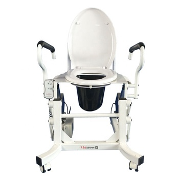 Powered toilet seat riser for elderly and pregnant women movable toilet lifts