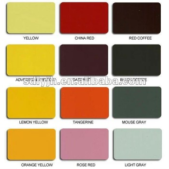 Color Chart Of Acpacmaluminium Composite Panel Buy Blue Color