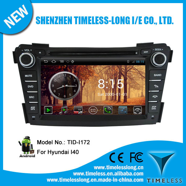 Android system 2 DIN Car DVD player for HYUNDAI I40 2012 with GPS Ipod DVR digital TV box BT Radio 3G/Wifi(TID-I172)