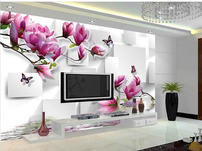 online kaufen gro handel orchidee wallpaper aus china orchidee wallpaper gro h ndler. Black Bedroom Furniture Sets. Home Design Ideas