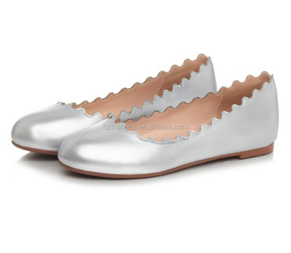 European style popolar selling lady wave flat shoes
