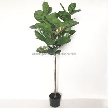59'' tall artificial rubber tree bonsai with 38 leaves floor foliage