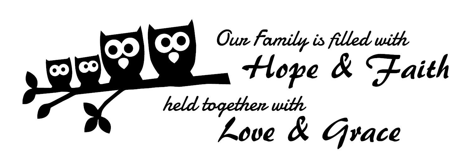 Family quote wall decals are Brown High Quality Vinyl Wall Decals Owl family. Our family inspirational quotes wall decals for kids rooms, children wall decals, and nursery wall decals-perfect gifts