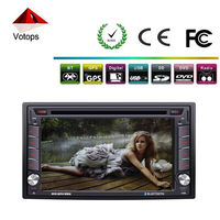 double din car dvd built-in gps /bluetooth/ am/fm radio/tv