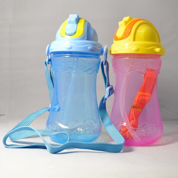 Основная ремешки анти - дизайн утечки детской 350 мл детская чаши для питья пластиковые стаканчики