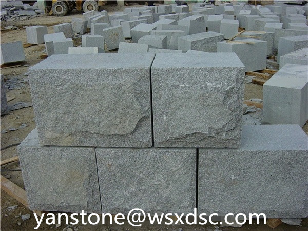 Granite Mushroomed Wall Stone/exterior decorative wall stone/granite wall stone design
