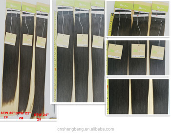 "In stock 100% Hair Weave Double Drawn Hair Club SINA 20"", 22"" 24"" natural color 2# 9a cheap virgin hair"