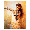Beautiful Lady Playing Violin Wall Art Painting