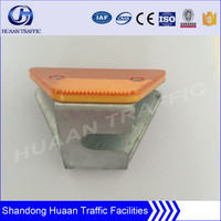 Road safety guardrail reflector
